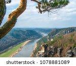 saxon switzerland. view of the... | Shutterstock . vector #1078881089