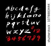 vector fonts   handwritten...   Shutterstock .eps vector #1078883444