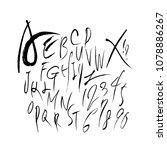 vector fonts   handwritten...   Shutterstock .eps vector #1078886267
