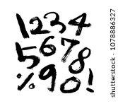 vector fonts   handwritten... | Shutterstock .eps vector #1078886327