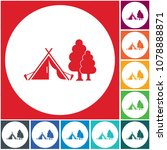 stylized icon of tourist tent.... | Shutterstock .eps vector #1078888871
