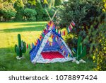 photon for indian huts | Shutterstock . vector #1078897424