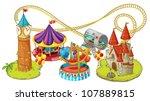 illustration of fun fair games...   Shutterstock .eps vector #107889815