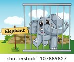 Illustration Of A Elephant In...