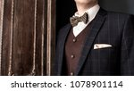 man suit on the background | Shutterstock . vector #1078901114