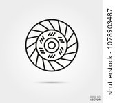 clutch disc  vector line icon.... | Shutterstock .eps vector #1078903487