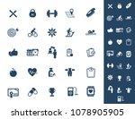 fitness icon set  vector | Shutterstock .eps vector #1078905905