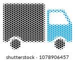 halftone hexagon shipment van...   Shutterstock .eps vector #1078906457