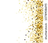 gold confetti. gold sequins... | Shutterstock .eps vector #1078908695