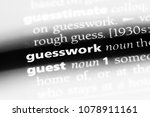Small photo of guesswork word in a dictionary. guesswork concept