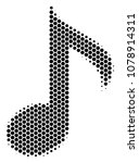 halftone hexagonal musical note ... | Shutterstock .eps vector #1078914311