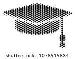 halftone hexagonal graduation... | Shutterstock .eps vector #1078919834