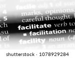facilitate word in a dictionary.... | Shutterstock . vector #1078929284
