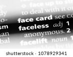 faceless word in a dictionary.... | Shutterstock . vector #1078929341