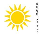 sun sign icon  vector sunlight  ... | Shutterstock .eps vector #1078932851