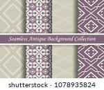 antique seamless elegant purple ... | Shutterstock .eps vector #1078935824