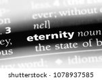 eternity word in a dictionary.... | Shutterstock . vector #1078937585