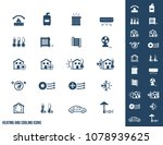 heating and cooling icons | Shutterstock .eps vector #1078939625