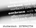 embrace word in a dictionary.... | Shutterstock . vector #1078942754