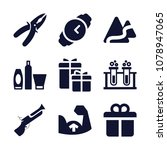 set of 9 other filled icons... | Shutterstock .eps vector #1078947065