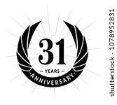 31 years anniversary. elegant... | Shutterstock .eps vector #1078952831