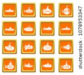 submarine icons set vector... | Shutterstock .eps vector #1078953347