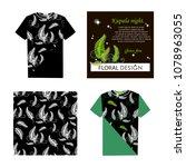 forest fern. kupala night. set. ... | Shutterstock .eps vector #1078963055