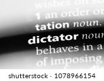 dictator word in a dictionary.... | Shutterstock . vector #1078966154