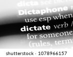 dictate word in a dictionary.... | Shutterstock . vector #1078966157