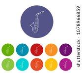 saxophone icon. outline...   Shutterstock .eps vector #1078966859