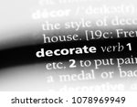 decorate word in a dictionary.... | Shutterstock . vector #1078969949