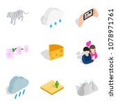 preserve the wild icons set.... | Shutterstock .eps vector #1078971761