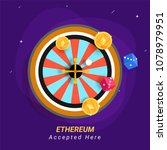 ethereum coins  and roulette on ... | Shutterstock .eps vector #1078979951