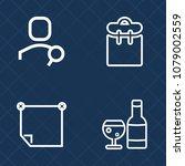 premium set of outline vector... | Shutterstock .eps vector #1079002559