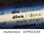 Small photo of diva word in a dictionary. diva concept