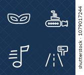 premium set of outline vector... | Shutterstock .eps vector #1079017244