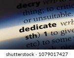 dedicate word in a dictionary.... | Shutterstock . vector #1079017427