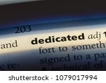 dedicated word in a dictionary. ... | Shutterstock . vector #1079017994
