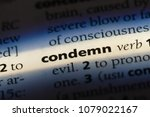Small photo of condemn word in a dictionary. condemn concept
