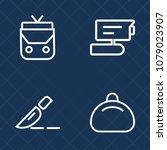 premium set of outline vector... | Shutterstock .eps vector #1079023907