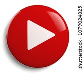 play button. round red 3d icon... | Shutterstock . vector #1079024825