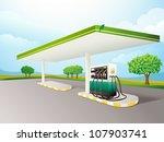 illustration of a petrol pump... | Shutterstock . vector #107903741