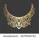 laser cut bib necklace design.  ... | Shutterstock .eps vector #1079043731