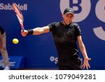Small photo of BARCELONA - APR 25: Dominic Thiem plays at the ATP Barcelona Open Banc Sabadell Conde de Godo tournament on April 25, 2018 in Barcelona, Spain.