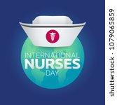 international nurses day ... | Shutterstock .eps vector #1079065859