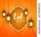 eid mubarak design  vector...   Shutterstock .eps vector #1079069231