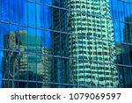 abstract   building reflections ... | Shutterstock . vector #1079069597