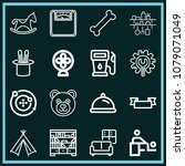 Set Of 16 Other Outline Icons...