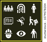 set of 9 people filled icons... | Shutterstock .eps vector #1079078204