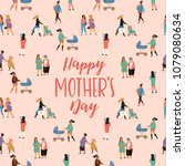 happy mothers day. vector... | Shutterstock .eps vector #1079080634